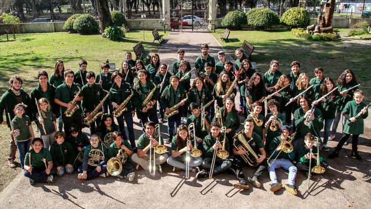 El día que la Banda Infanto Juvenil celebró sus 15 años de historia tocando junto a Panizza..