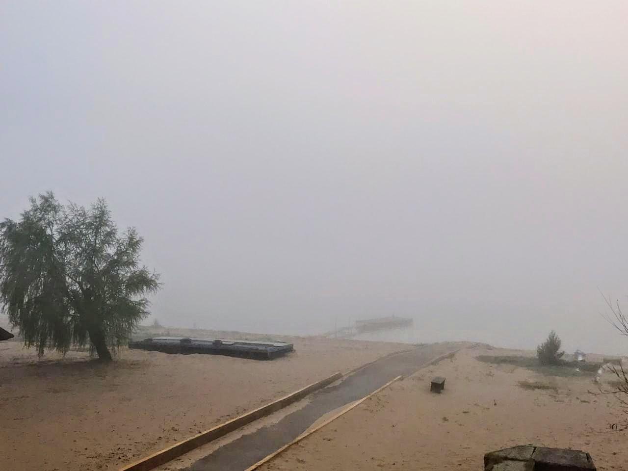 La ciudad quedó sumergida en la niebla (Rplus)