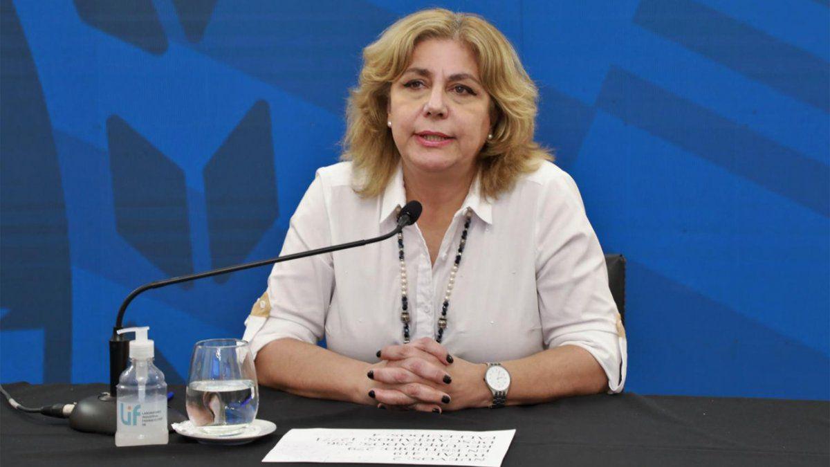 Sonia Martorano, ministra de Salud.