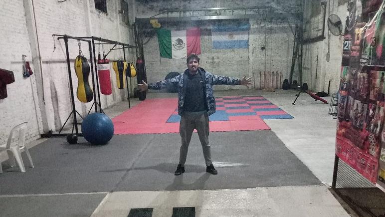 Chubi Otarola abrió su gimnasio meses antes de la pandemia.