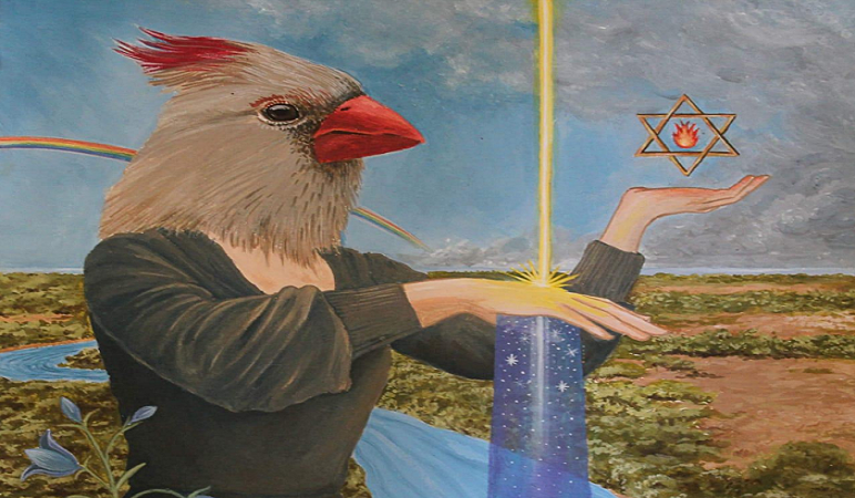 """La ilustración de la canción """"Humedales"""" es de la artista entrerriana Victoria Ruiz Díaz."""