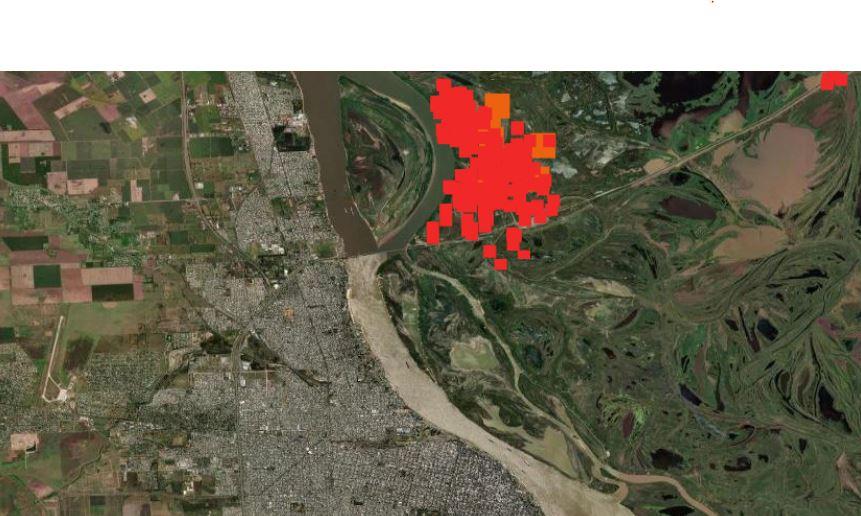 Mapa de incendios de la NASA