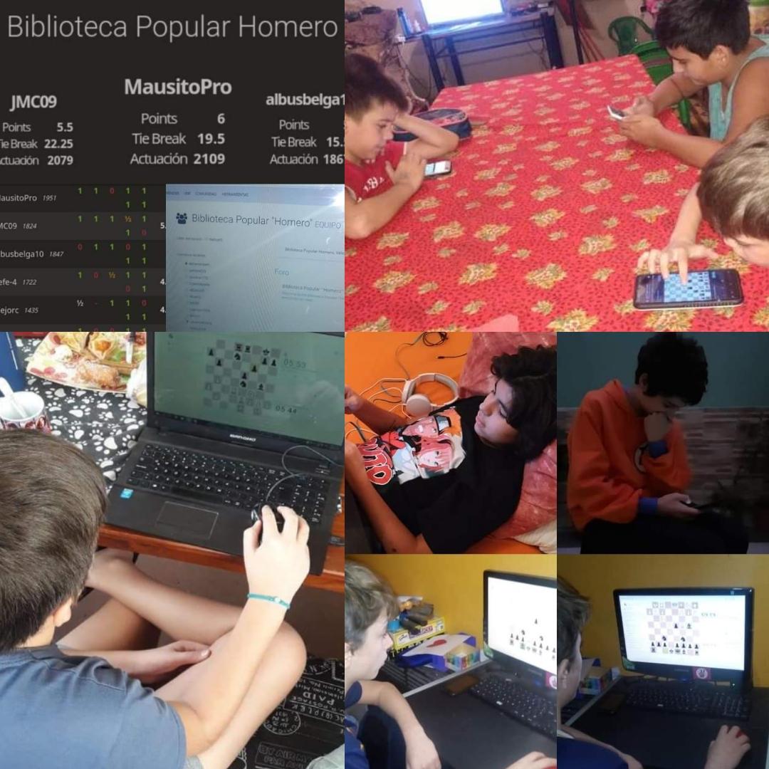 Los alumnos siguen asistiendo al taller de ajedrez online.