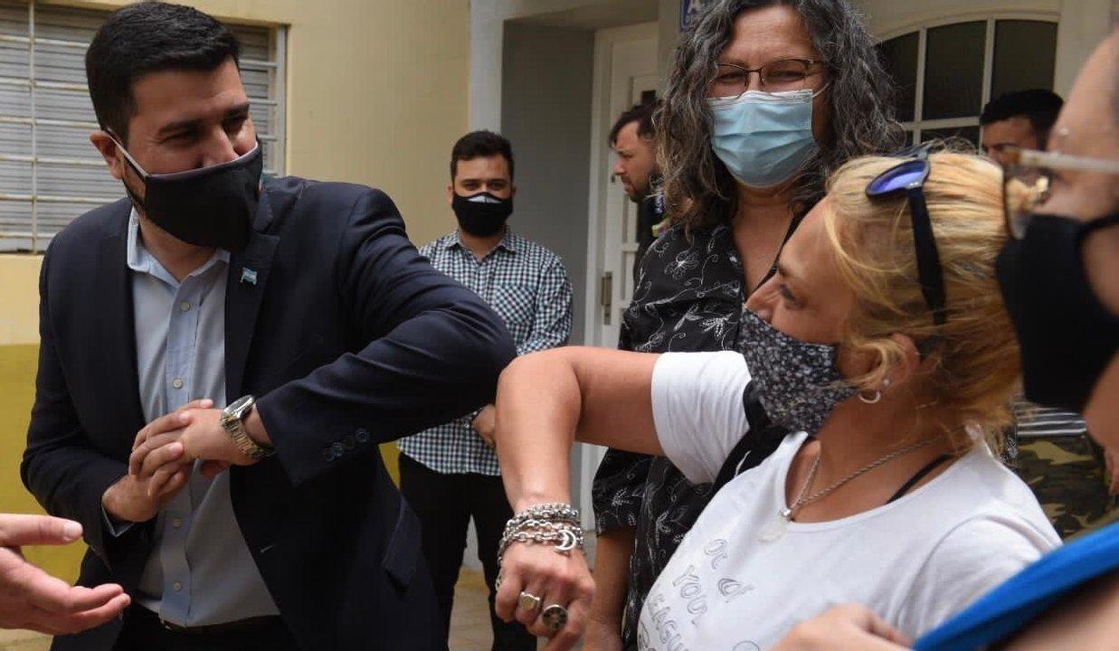 Marcos Cleri pasó por Arroyo Seco en otro operativo conjunto de Ansés y Pami.