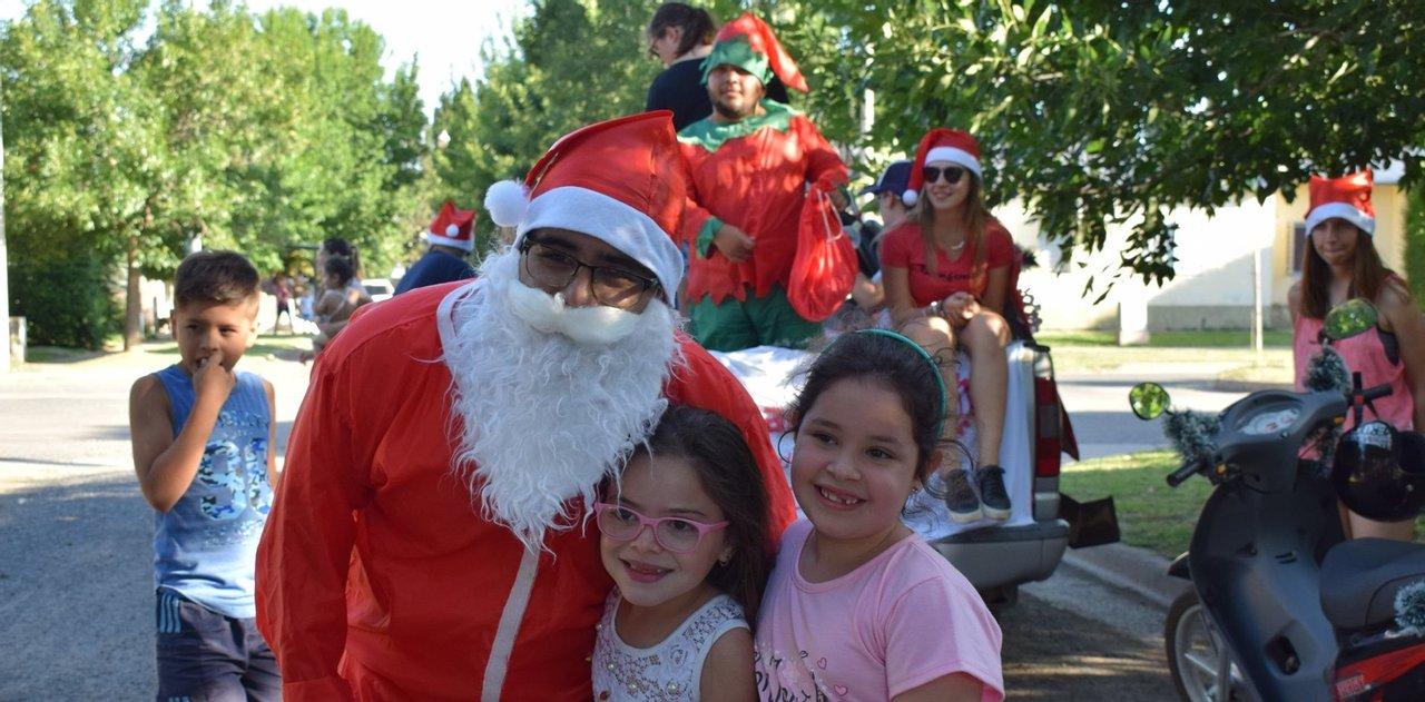 Papá Noel no falla. Imagen del recorrido del año pasado.