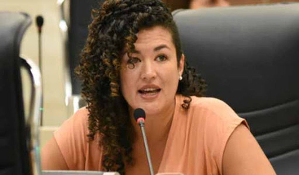 La concejala Alejandra Gómez Sáenz se ocupó especialmente de los trabajadores de la cultura en la ciudad.