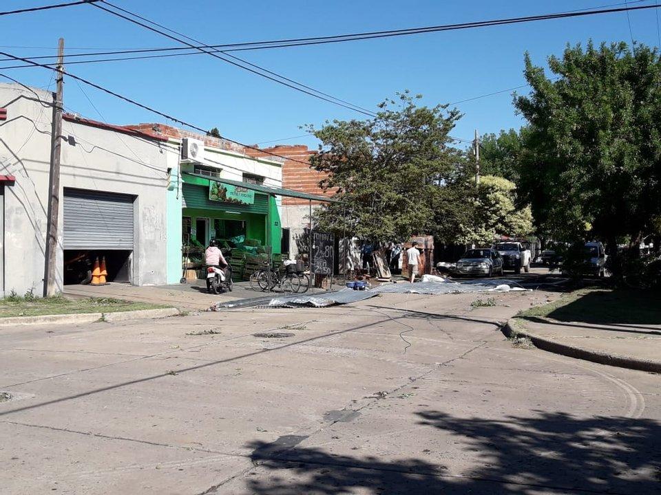 Urquiza y Zeballos, otro de los lugares afectados.