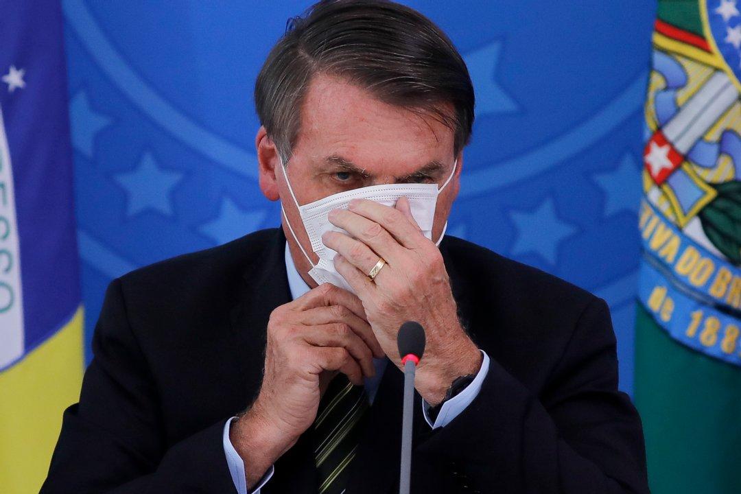 El presidente de Brasil, Jair Bolsonaro, muy cuestionado por su gestión de la pandemia.