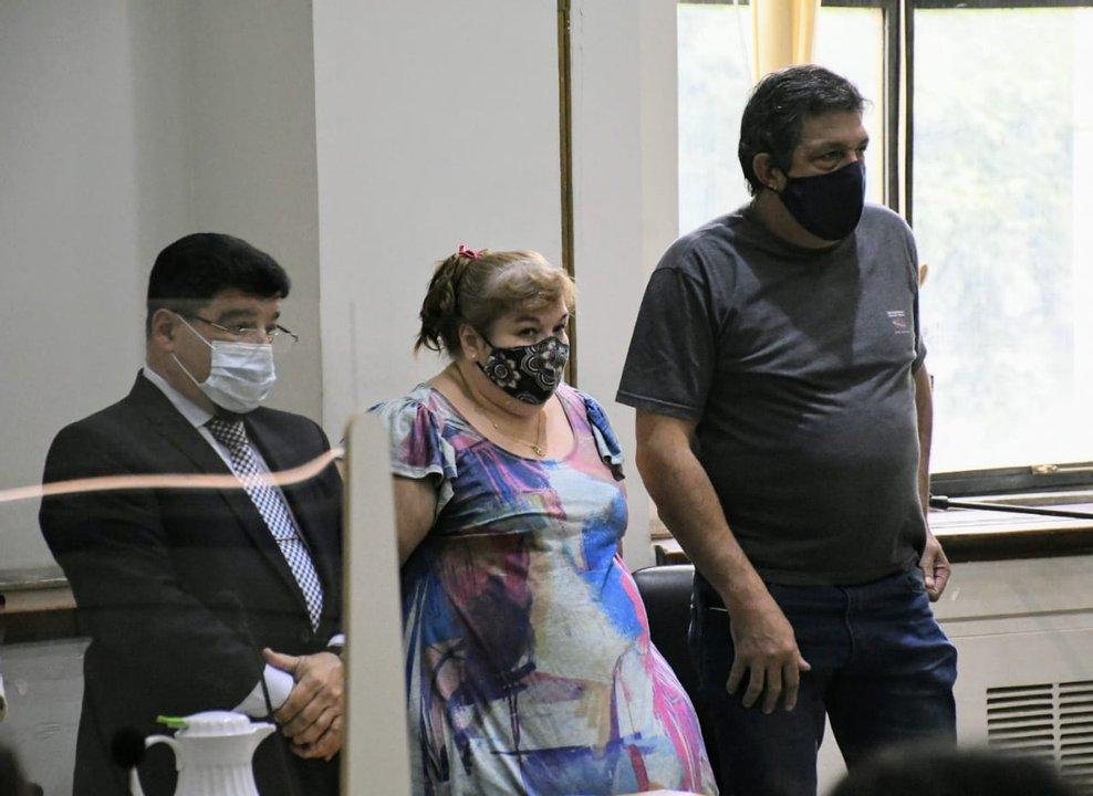 Michl, Strumia y su abogado. (foto Rosario Plus)