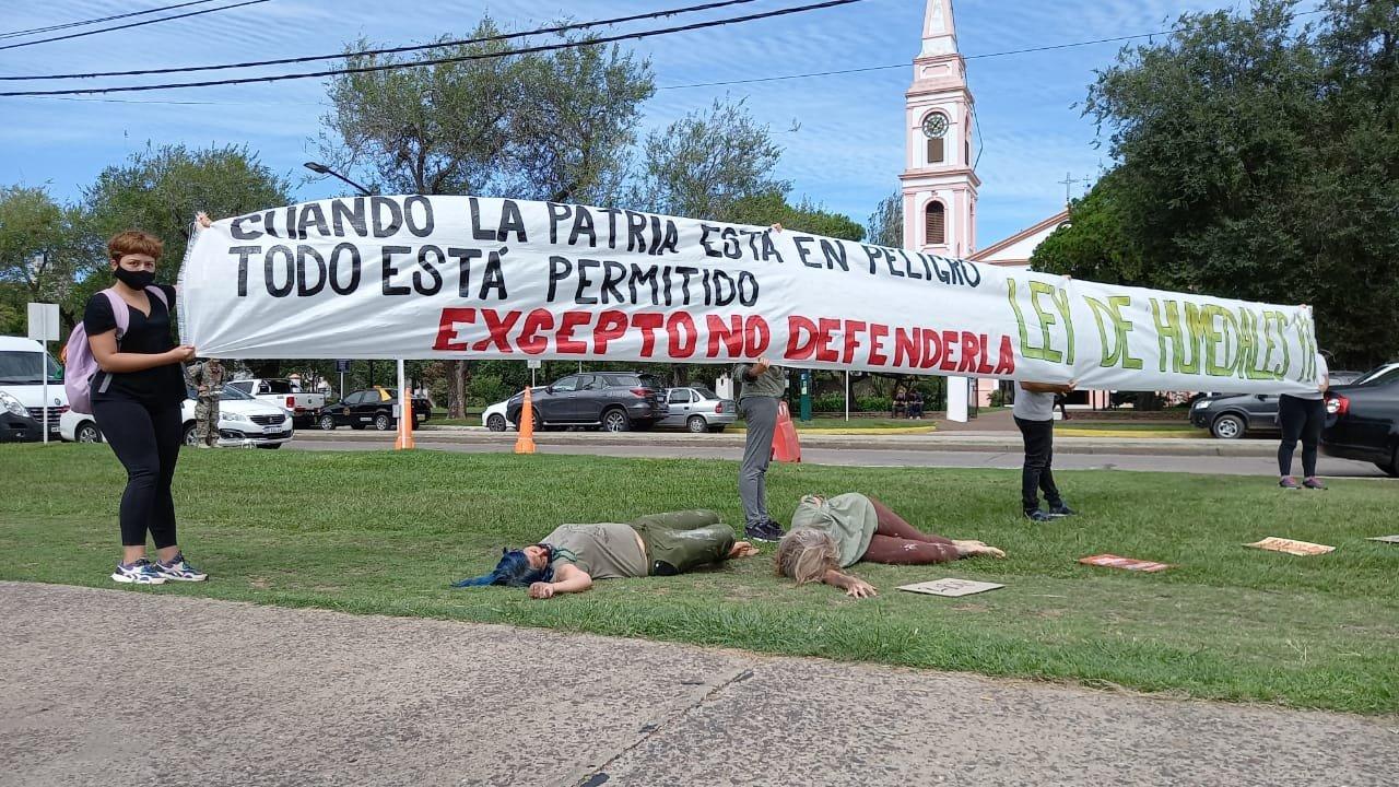 La protesta por Ley de Humedales.