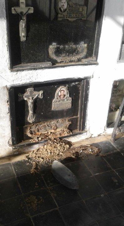 Robos y destrozos en el cementerio de Sanford