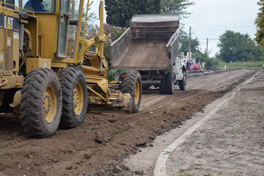 Avanza el plan para construir cordón cuneta en 31 cuadras de la ciudad