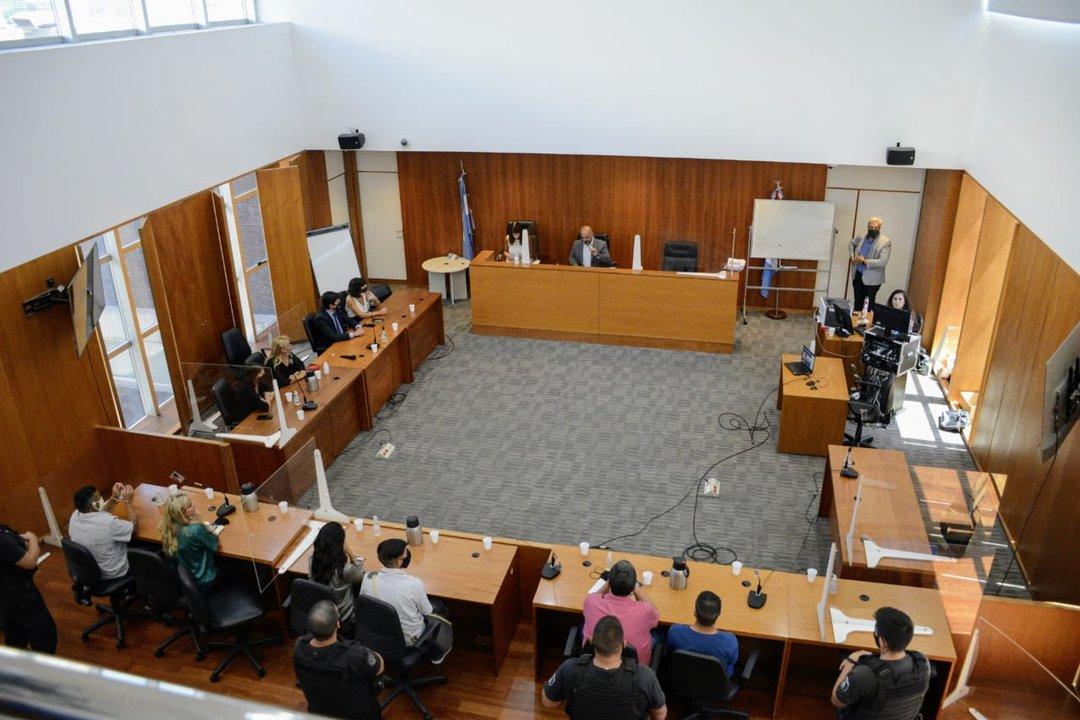 La sala de audiencias durante la lectura del fallo. Fiscalía apelará. (Rosarioplus)