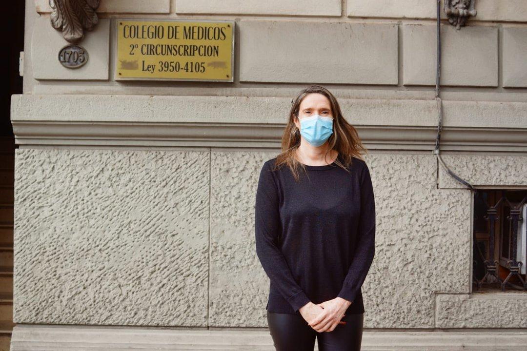 Ángela Prigione, titular del Colegio de Médicos de Rosario.