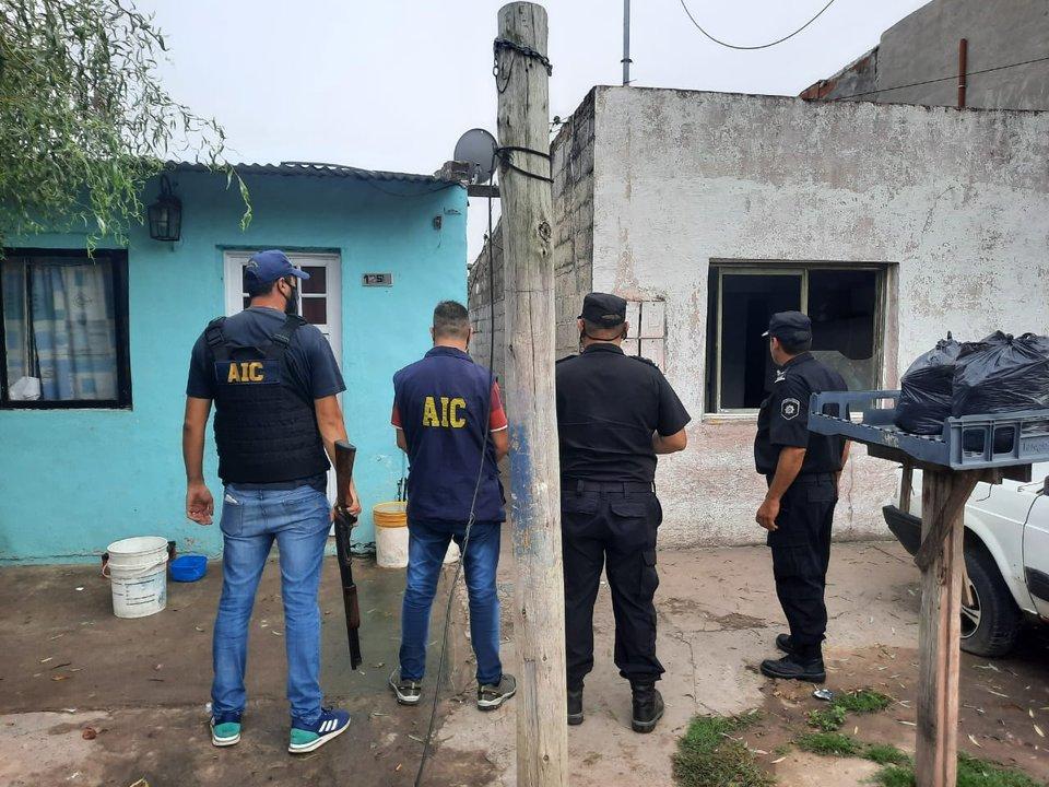Cuatro allanamientos en simultáneo en la ciudad de Casilda: hay detenidos