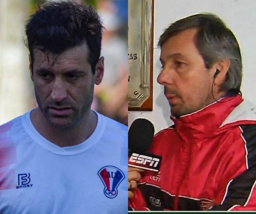 A la izquierda Marchegiani y  la derecha Pradolini. Fotos: Facebook.