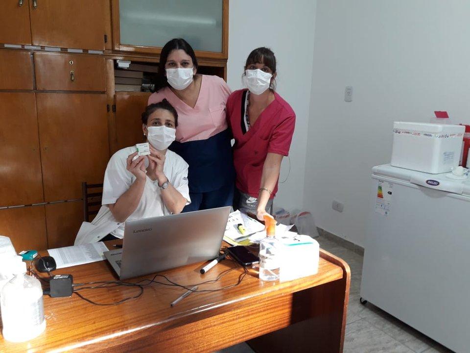 Vacunación en Pujato.