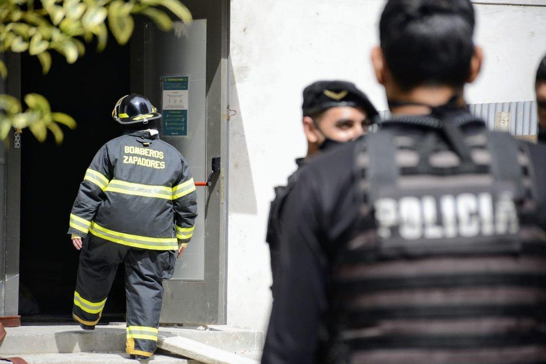 Incendio en el hotel Savoy (foto Rosarioplus)