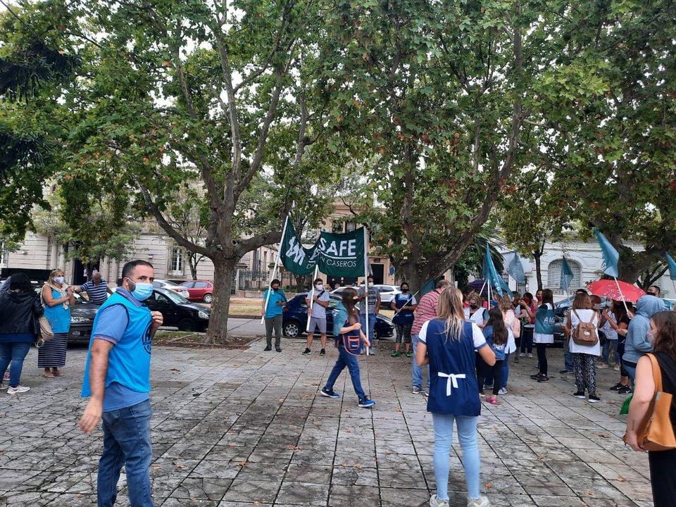 AMSAFE Caseros dio muestras de su disconformidad respecto a la propuesta salarial.