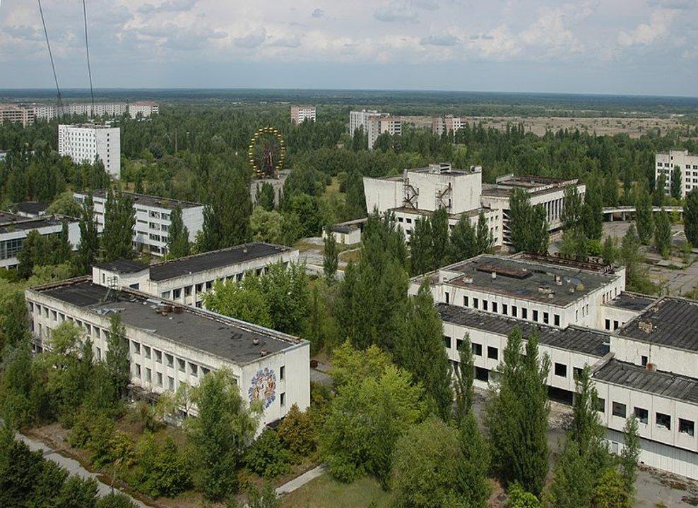La ciudad fantasma de Pripyat, abandonada luego del desastre reactor atómico Chernóbil (EFE).
